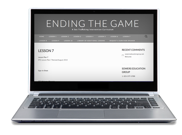Ending the Game Lesson Screenshot