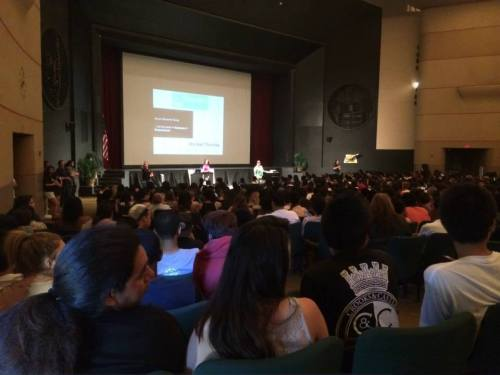 Student Assembly, Long Beach Poly High School